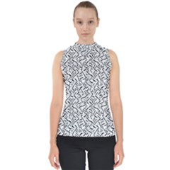 Wavy Intricate Seamless Pattern Design Shell Top