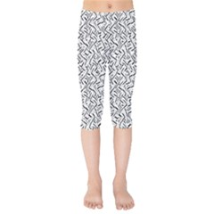 Wavy Intricate Seamless Pattern Design Kids  Capri Leggings