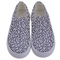 Wavy Intricate Seamless Pattern Design Kids  Canvas Slip Ons