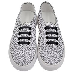 Wavy Intricate Seamless Pattern Design Women s Classic Low Top Sneakers