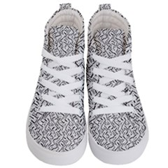 Wavy Intricate Seamless Pattern Design Kid s Hi Top Skate Sneakers