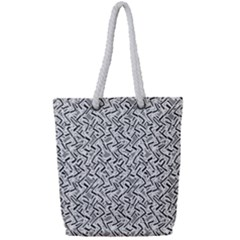 Wavy Intricate Seamless Pattern Design Full Print Rope Handle Tote (small)