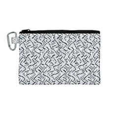 Wavy Intricate Seamless Pattern Design Canvas Cosmetic Bag (medium)