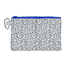Wavy Intricate Seamless Pattern Design Canvas Cosmetic Bag (large)