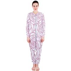 Pink Peonies Onepiece Jumpsuit (ladies)