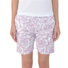 Pink Peonies Women s Basketball Shorts