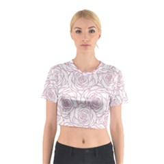 Pink Peonies Cotton Crop Top