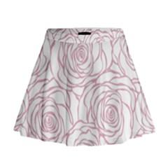 Pink Peonies Mini Flare Skirt