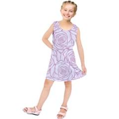Pink Peonies Kids  Tunic Dress