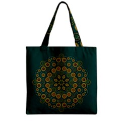 Snow Flower In A Calm Place Of Eternity And Peace Grocery Tote Bag