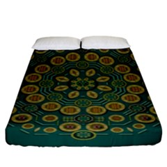 Snow Flower In A Calm Place Of Eternity And Peace Fitted Sheet (king Size)