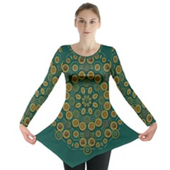 Snow Flower In A Calm Place Of Eternity And Peace Long Sleeve Tunic