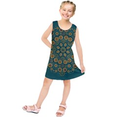 Snow Flower In A Calm Place Of Eternity And Peace Kids  Tunic Dress