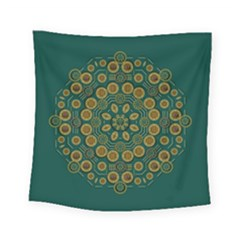 Snow Flower In A Calm Place Of Eternity And Peace Square Tapestry (small)
