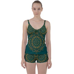 Snow Flower In A Calm Place Of Eternity And Peace Tie Front Two Piece Tankini