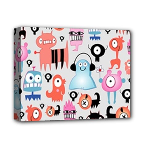Funky Monsters Pattern Deluxe Canvas 14  X 11
