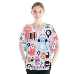 Funky Monsters Pattern Blouse