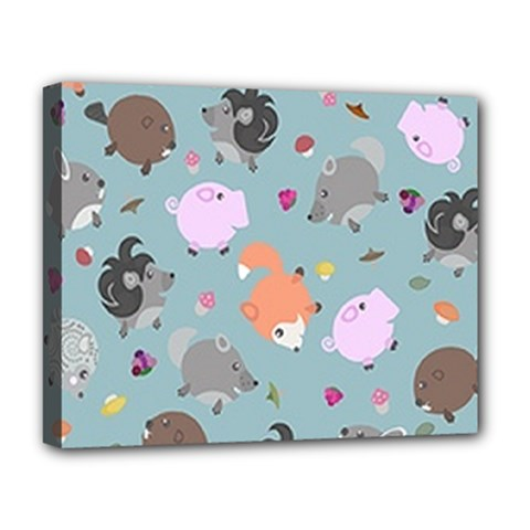Little Round Animal Friends Deluxe Canvas 20  X 16