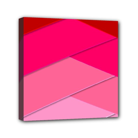 Geometric Shapes Magenta Pink Rose Mini Canvas 6  X 6