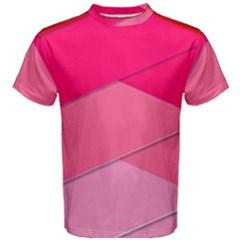 Geometric Shapes Magenta Pink Rose Men s Cotton Tee