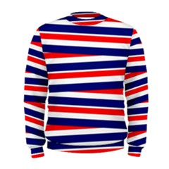 Red White Blue Patriotic Ribbons Men s Sweatshirt
