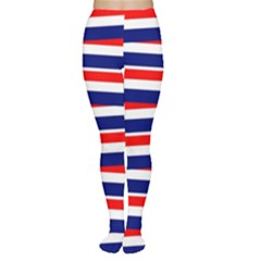Red White Blue Patriotic Ribbons Women s Tights