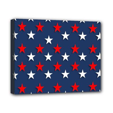 Patriotic Colors America Usa Red Canvas 10  X 8
