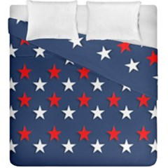 Patriotic Colors America Usa Red Duvet Cover Double Side (king Size)