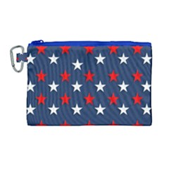 Patriotic Colors America Usa Red Canvas Cosmetic Bag (large)