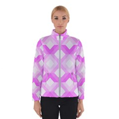 Geometric Chevrons Angles Pink Winterwear