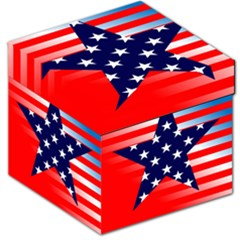 Patriotic American Usa Design Red Storage Stool 12