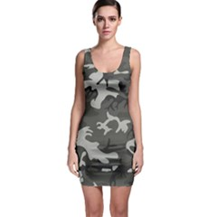 Camouflage Pattern Disguise Army Bodycon Dress
