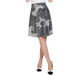 Camouflage Pattern Disguise Army A Line Skirt