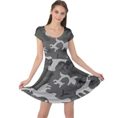 Camouflage Pattern Disguise Army Cap Sleeve Dress
