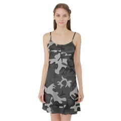 Camouflage Pattern Disguise Army Satin Night Slip