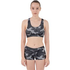 Camouflage Pattern Disguise Army Work It Out Sports Bra Set