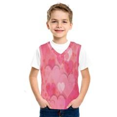 Pink Hearts Pattern Kids  Sportswear