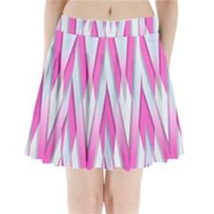 Geometric 3d Design Pattern Pink Pleated Mini Skirt