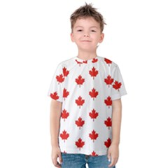 Maple Leaf Canada Emblem Country Kids  Cotton Tee