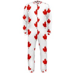 Maple Leaf Canada Emblem Country Onepiece Jumpsuit (men)