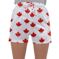 Maple Leaf Canada Emblem Country Sleepwear Shorts