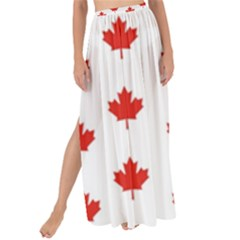 Maple Leaf Canada Emblem Country Maxi Chiffon Tie Up Sarong