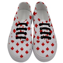 Maple Leaf Canada Emblem Country Men s Classic Low Top Sneakers