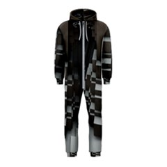 Fractal Render Cube Cubic Shape Hooded Jumpsuit (kids)