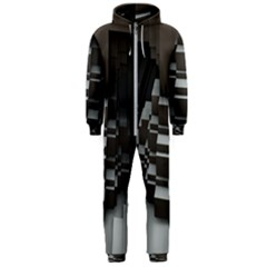 Fractal Render Cube Cubic Shape Hooded Jumpsuit (men)