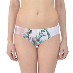 Flowers And Leaves In Soft Purple Colors Hipster Bikini Bottoms