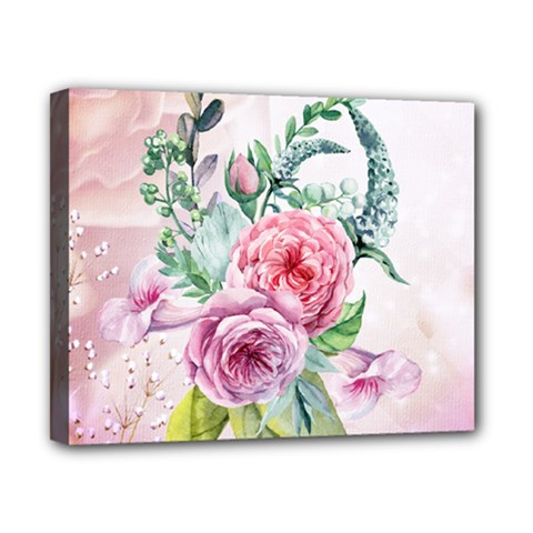 Flowers And Leaves In Soft Purple Colors Canvas 10  X 8
