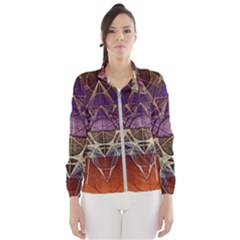 Cube Of Metatrone Diamond Wind Breaker (women)