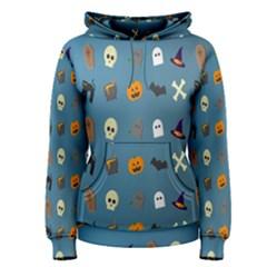 Halloween Cats Pumpkin Pattern Bat Women s Pullover Hoodie