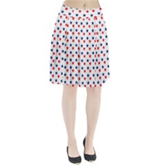 Patriotic Red White Blue Stars Usa Pleated Skirt